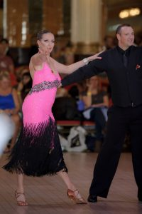 Laura and her husband dancing at Blackpool