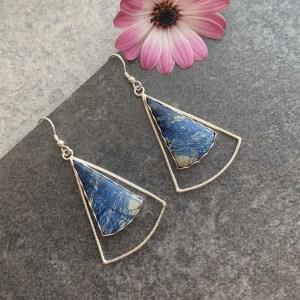Bespoke azurite earrings