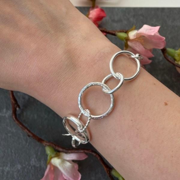 Silver link bracelet hallmarked at the London Assay Office