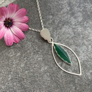 Green jade gemstone pendant