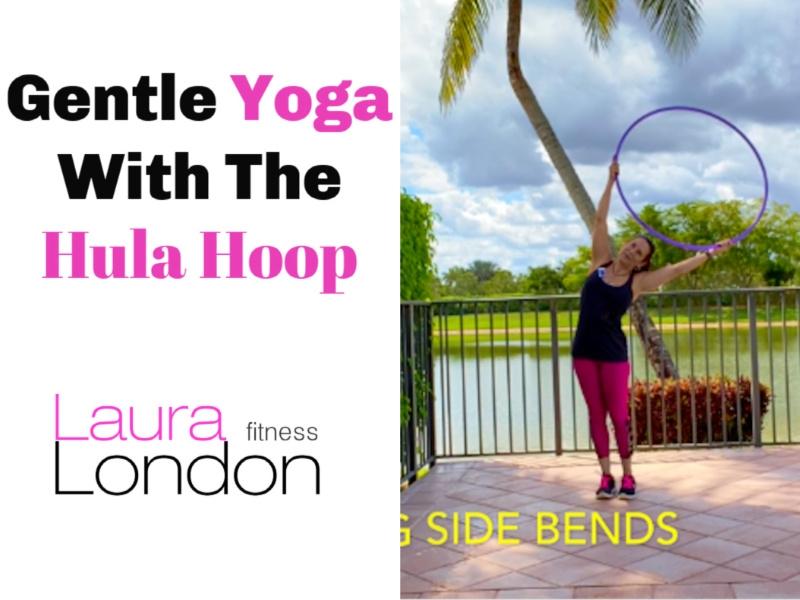 yoga with a hula hoop