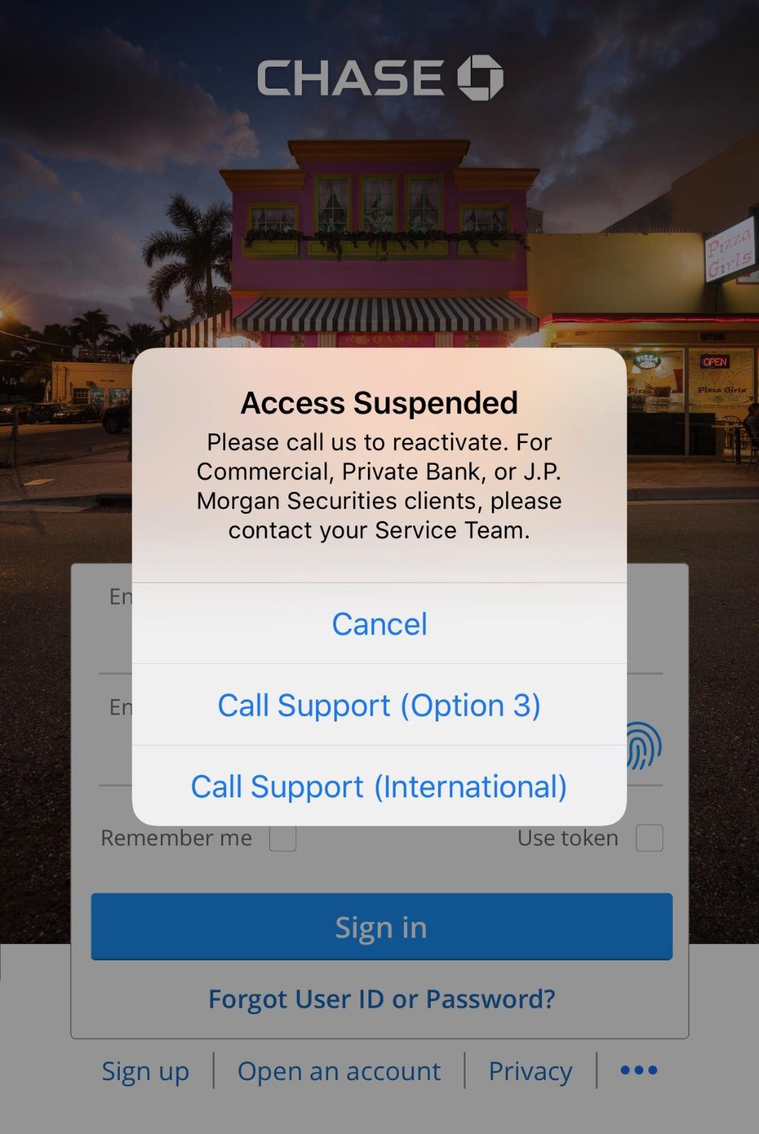 credit one bank account temporarily suspended