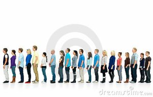 line of people
