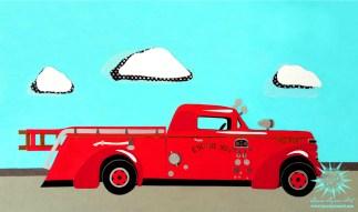 Fire Truck Art