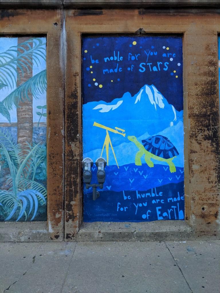 Mural by Green Line in Oak Park Illinois