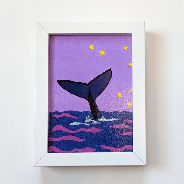 framed whale art