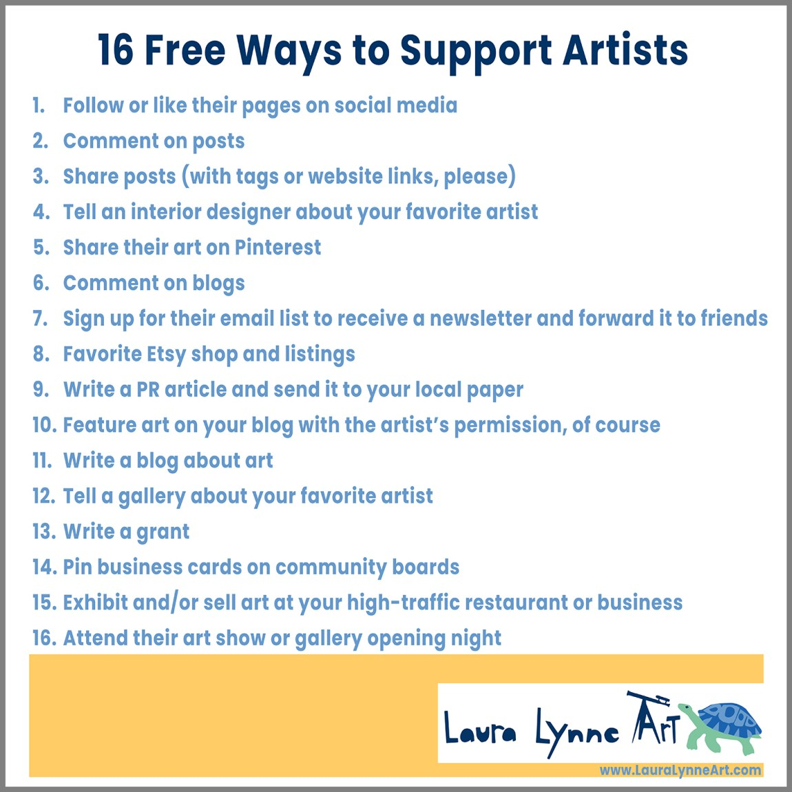16 free ways to support artists