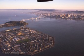 SF side of Bay Bridge (Treasure island in foreground)