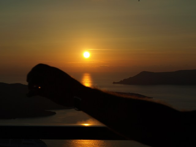 Famous Sunset at Oia, Santorini