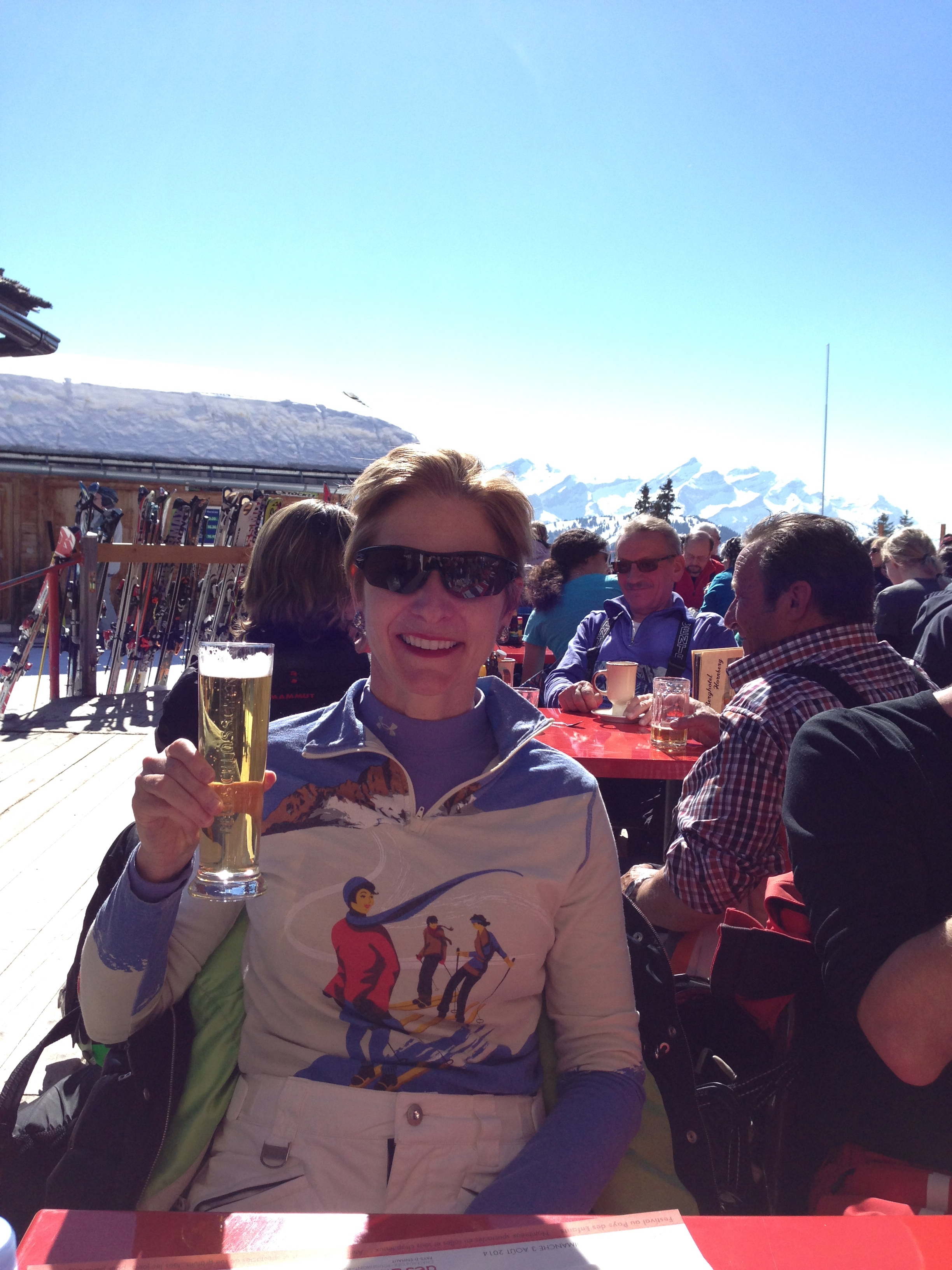 Spring Skiing means all your meals can be in the sun