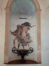 One of the many gorgeous frescoes at Grand Hotel Vittoria
