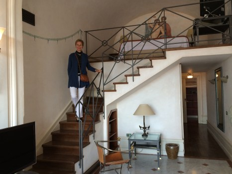 One of the fantastic suites at Grand Hotel Vittoria, this one a unique bi-level with an upstairs loft bedroom