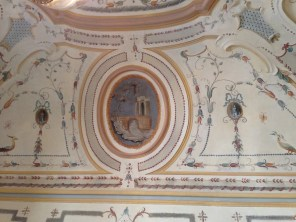 The frescoed ceilings at Hotel Caruso are breathtaking.