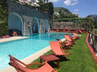 The pool at Palazzo Avino