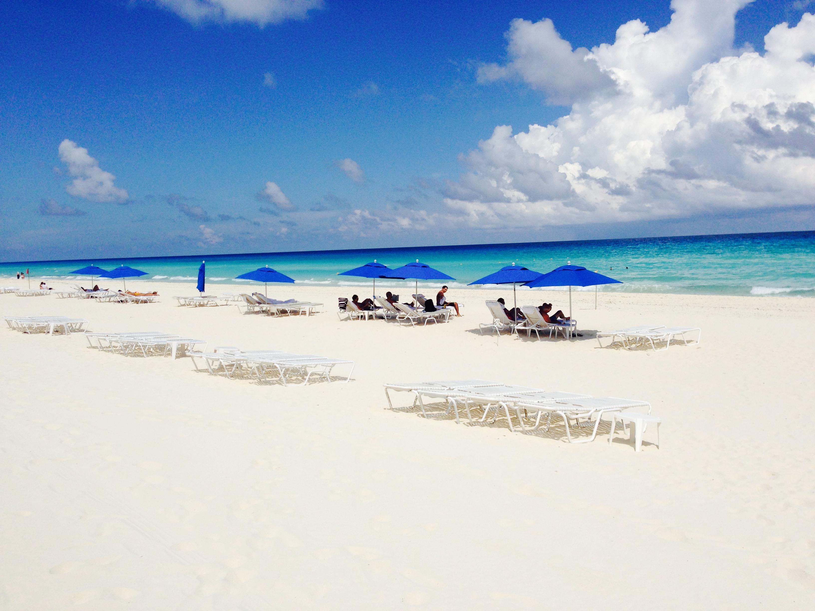Beautiful white sand beaches.