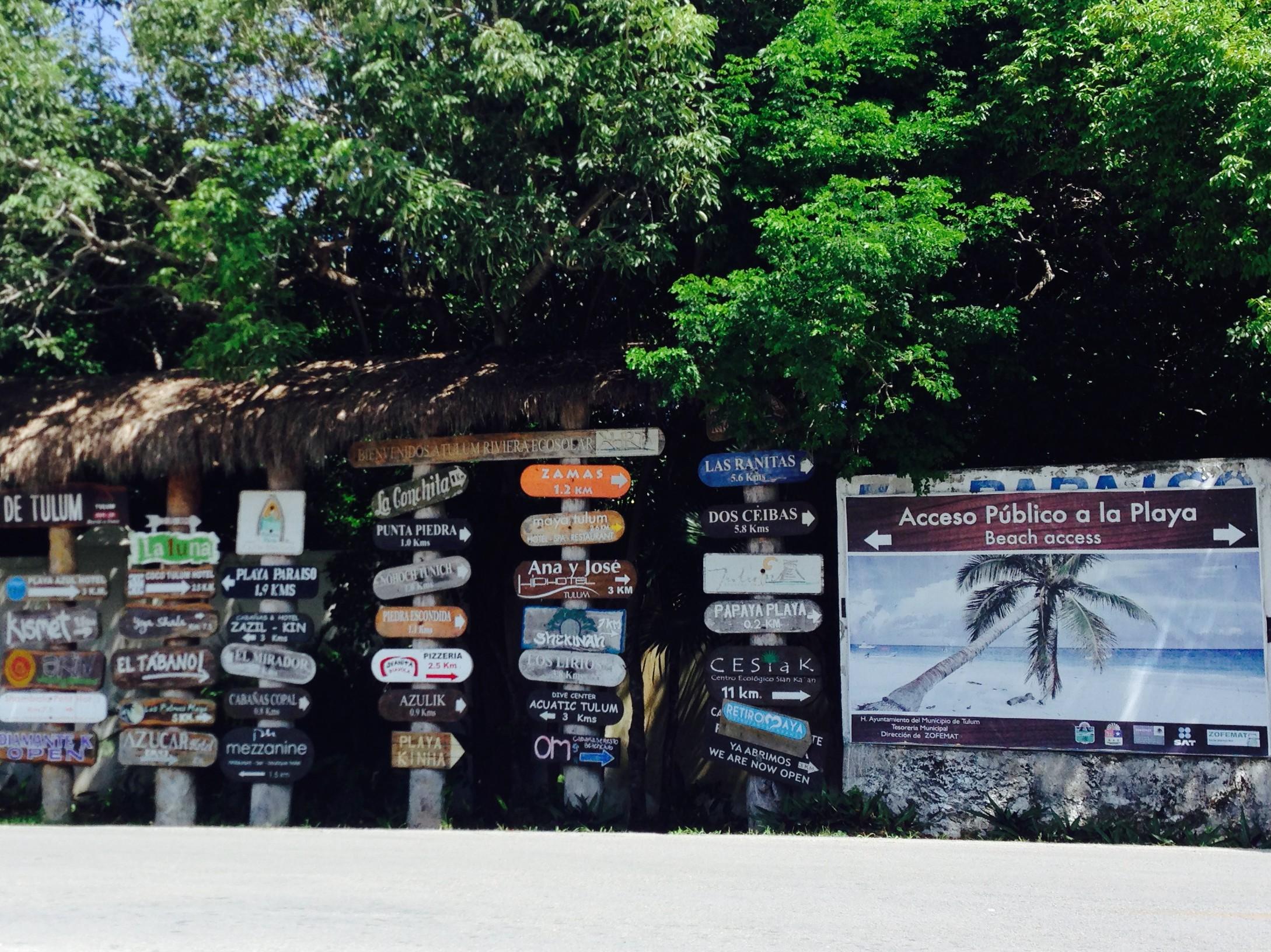 Arriving to the Tulum coastal zone