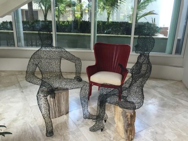 Unique art work throughout the Condado Vanderbilt.