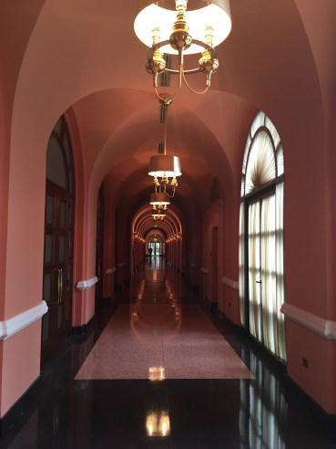 One of the lovely hall ways in the historic wing.