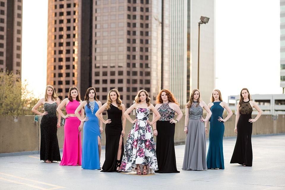 prom, richmond, senior, seniors, photography, photos, glen allen, virginia, Laura Matthews, Lex's, David's Bridal, gown, rooftop, dresses