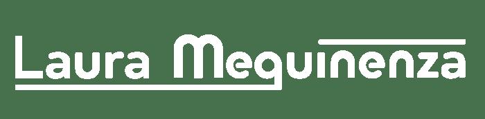 Logo Laura Mequinenza blanco
