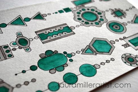1turqoise jewelry sketch