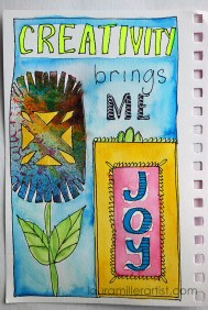 2wycinanki art journal words