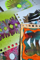 6wycinanki paper cut art journal