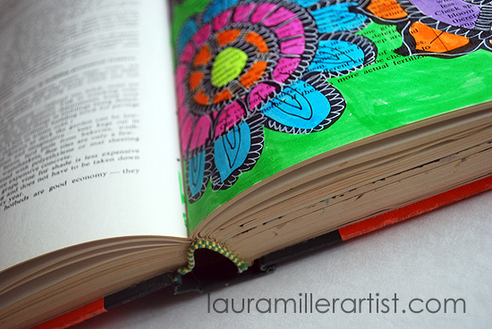 3highlighter doodled flowers