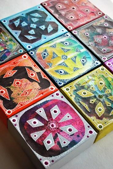 15wycinanki canvas tiles laura miller artist
