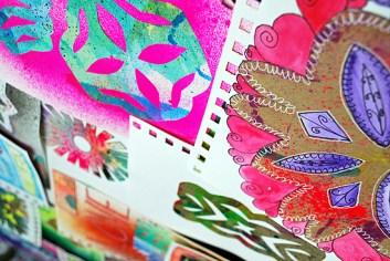 22art journal wycinanki laura miller artist