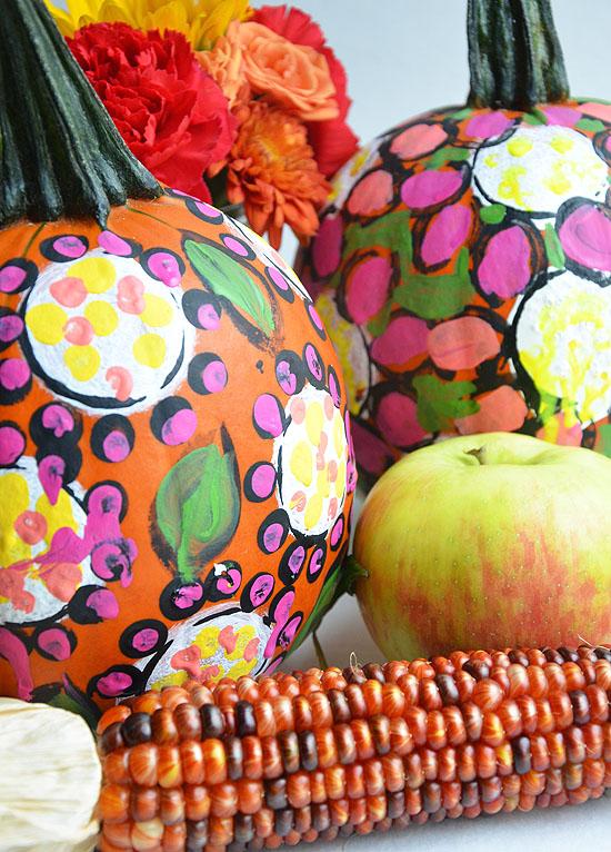 7painted pumpkins