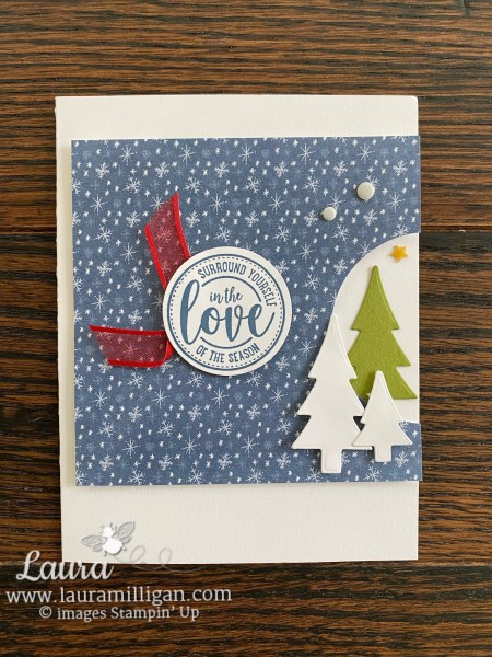 Trimming the Town Thank You Card Class Card #1 Laura Milligan, Independent Stampin' Up! Demonstrator
