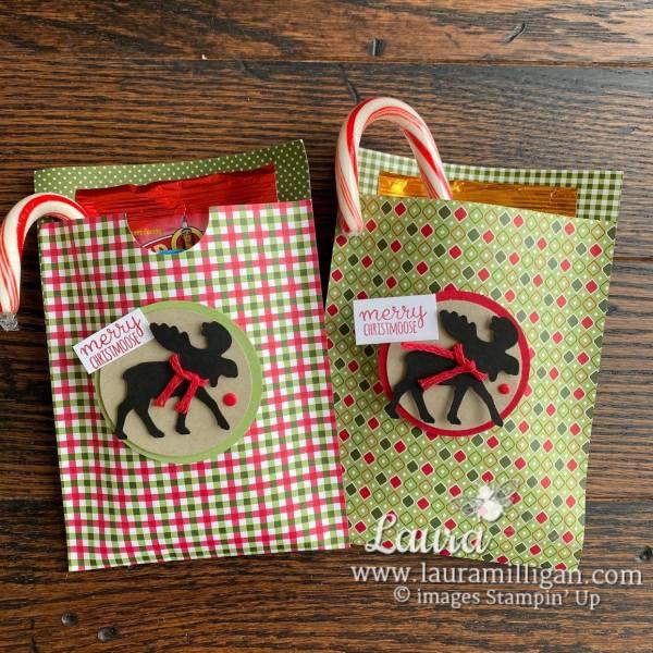 Merry Moose Bundle DSP Gift Bag by Laura Milligan
