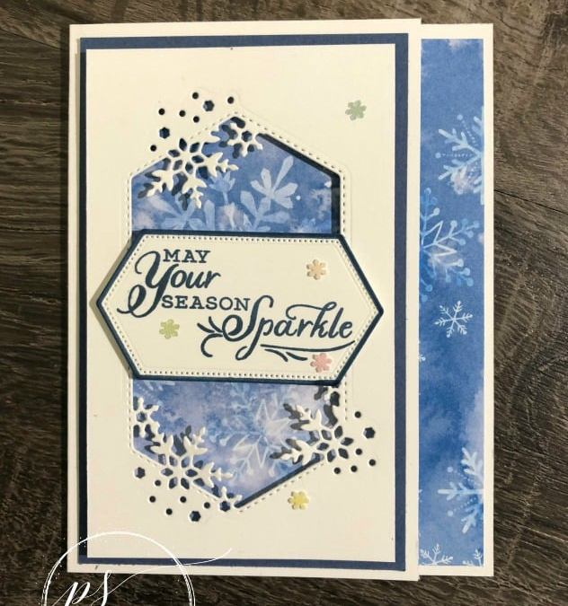 Bee Creative Tutorial – Your Season to Sparkle Holiday Card