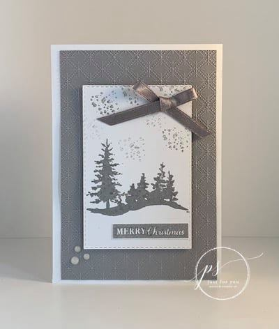 Bee Creative Merry Christmas Card Laura Milligan Id Rather Bee Stampin' Tutorial