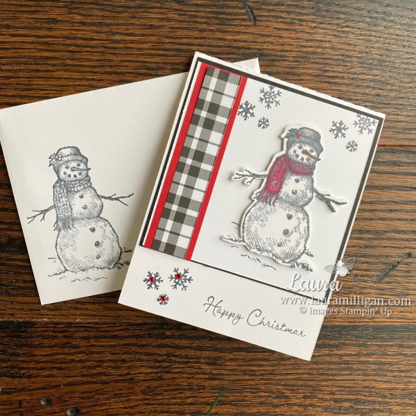 Snow Wonder Christmas Card and Coordinating Envelope by Laura Milligan