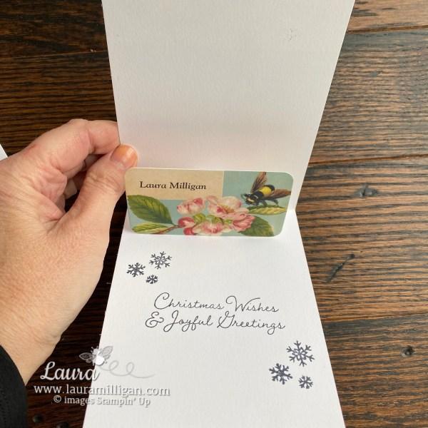 Snow Wonder Christmas Card Inside by Laura Milligan