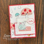 Hello card created with the Snail Mail Bundle from Stampin