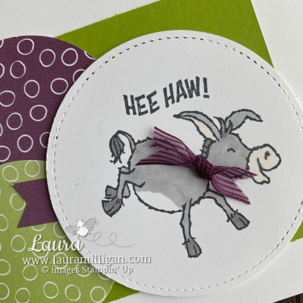 Darling Donkeys Stamp Set Free with $50 Order during Stampin' Up! Sale-a-Bration Circles 2
