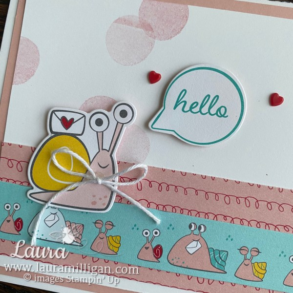 Snailed It Bundle from Stampin' Up! Card by Laura Milligan Shop Online Earn Free Bees