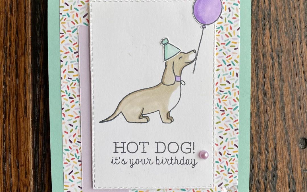 Blog Candy Winner & Bee Creative Tutorial – New Hot Dog!