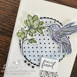 Hello Friend Card using A Touch of Ink Stamp Set and True Love Designer Series Paper - Stampin' Up! Laura Milligan