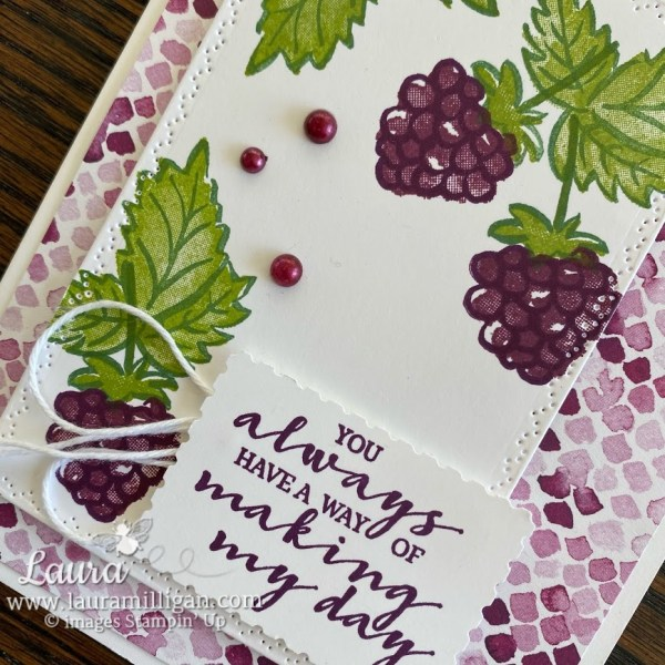 create this beautiful card Berry Blessings Saleabration Reward by Laura Milligan, Stampin' Up! demonstrator, Free Product