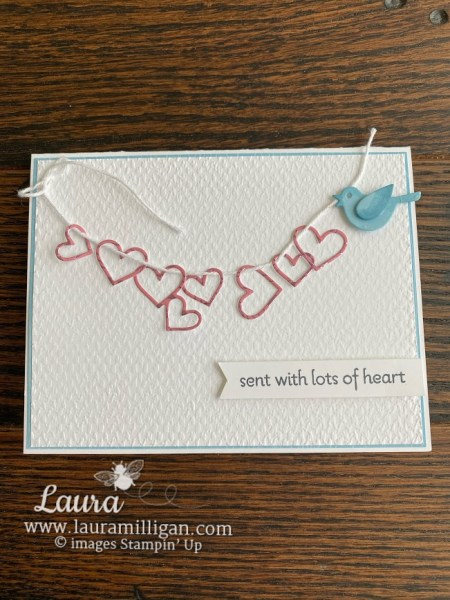 create this card using the Lots of Hearts Bundle from Stampin' Up! by Laura Milligan, I'd Rather Bee Stampin', order Stampin' Up! products and earn Free Products