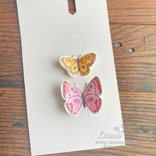 create this hand stamped card Butterfly Brilliance Stampin' Up! Laura Milligan I'd Rather Bee Stampin'