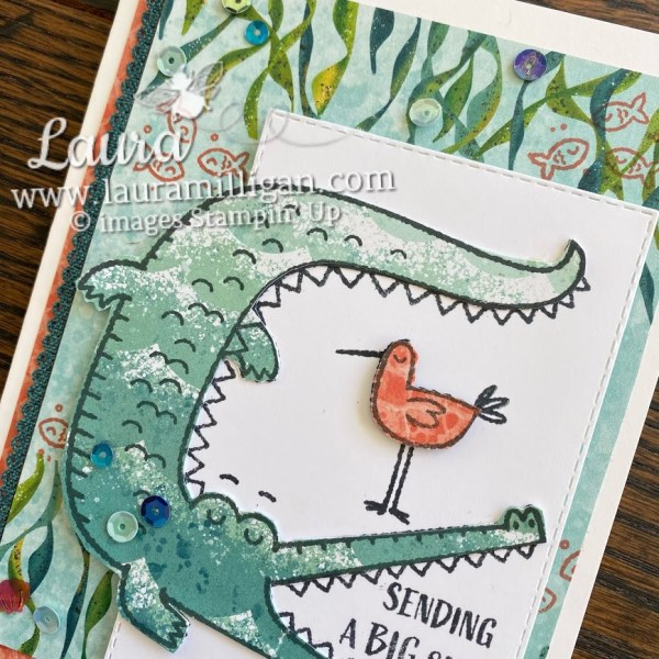 crocodile card Oh Snap by Laura Milligan Stampin' Up! demonstrator