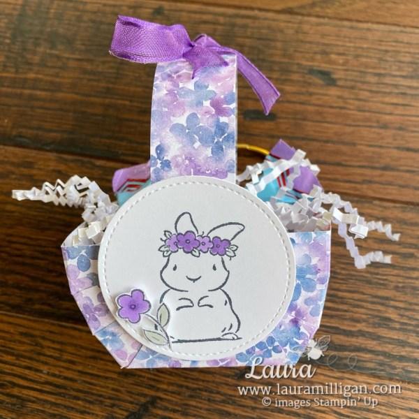 cute easter basket by laura milligan stampin up demonstrator Springtime Joy