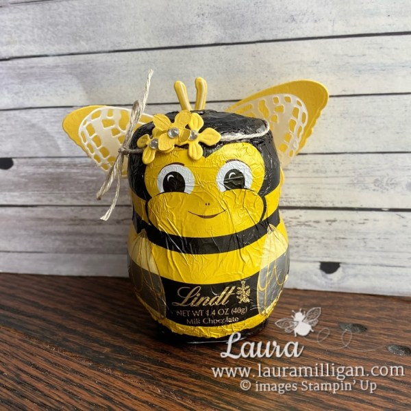 make a queen bee with Butterfly Brilliance dies by Stampin' Up! Laura Milligan demonstrator