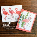 Friendly-Flamingo-Bundle Hand-stamped-card-by-Laura-Milligan-Stampin-Up-demonstrator