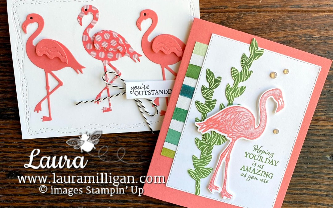 Friendly Flamingo Card Duo – Facebook Live!
